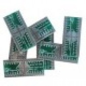 ADAPTOR SMD TO DIP  برد تبدیل   PCB SMD TO DIP QFP-32